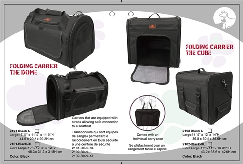 Folding Pet Carriers - The Dome (Black)