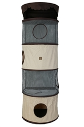 All-in-One Portable Cat Activity Tower (Four Storey)