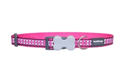 Reflective Lots-a-Bones Hot Pink Dog Collars, Leashes, & Harnesses