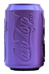 SodaPup - Natural Rubber Soda Can Shaped Dog Toy - Chew Toy - Treat Dispenser - Slow Feeder - for Aggressive Chewers - Made in USA - Purple