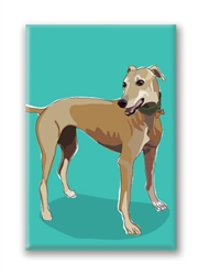 Greyhound Fridge Magnet