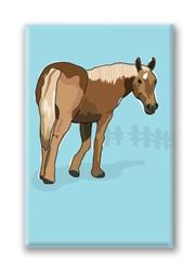Horse, Quarter Fridge Magnet