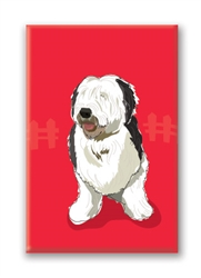 Old English Sheep Dog Fridge Magnet