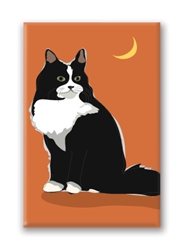 Cat, Tuxedo - Fridge Magnet
