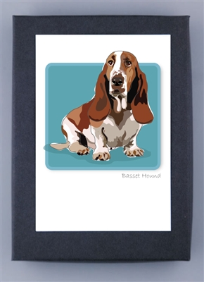 Basset Hound - Grrreen Boxed Note Cards (NEW)