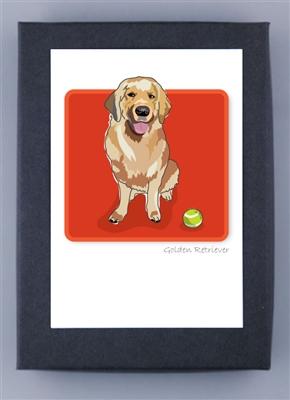 Golden Retriever - Grrreen Boxed Note Cards