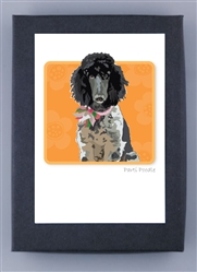 Poodle (Parti) - Grrreen Boxed Note Cards (NEW)