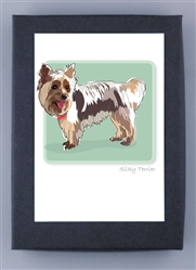 Silky Terrier - Grrreen Boxed Note Cards (NEW)