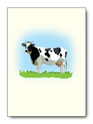 Holstein Cow Single Notes (6 cards/pk)