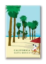 CA, Santa Monica Beach: Fridge Magnet