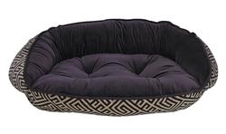 Crescent Bed Avalon Microvelvet (Aubergine Reverse)