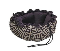 Buttercup Bed Avalon Microvelvet (Aubergine Inside)