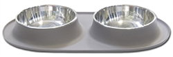 Double Bowl Silicone Feeders by Messy Mutts