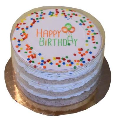 Neutral Layered Birthday Cake