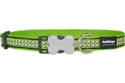 Reflective Bones Lime Green Dog Collar, Leads, and Harness