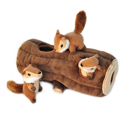 Burrow Log and Chipmunks by Zippy Paws