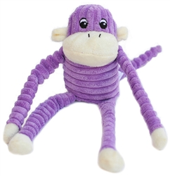 Zippy Paws - Spencer the Crinkle Monkey Small Purple
