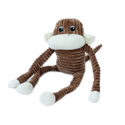 Zippy Paws - Spencer the Crinkle Monkey Large Brown