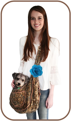 BoHo Blues Puppy Sling Pouch