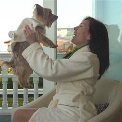 Dog Mom Bathrobe by Dog Fashion Spa
