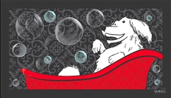 Dog Bathing Mat Happy Dog Design by Dog Fashion Spa