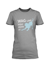 Wag Like You Mean It - Gray Short Sleeve Unisex Tee