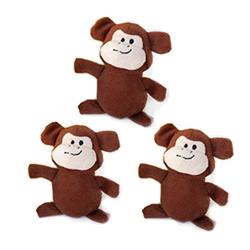 3 Pack Miniz Monkeys by Zippy Paws