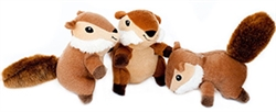 Zippy Paws - Zippy Miniz 3 Pack - Chipmunks