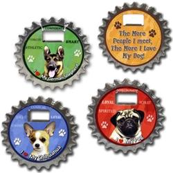 (Dogs) Bottle Ninjas - Coaster/Bottle Opener/Magnet