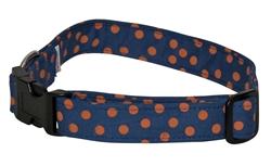 Blue with Orange Dots