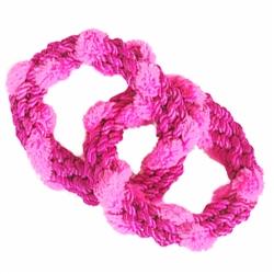 ABACA-DABRA 2 Circle Tug Toy - Pink