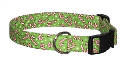 Candy Canes & Snow (Light Green)