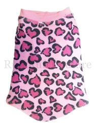Tattoo Hearts Pink Thermal Tee by Ruff Ruff Couture®