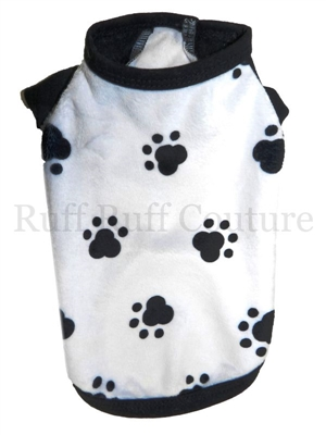Paw Prints Minky Muscle Tee by Ruff Ruff Couture®