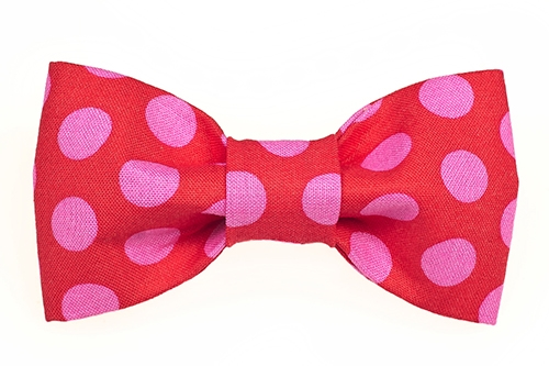 Bow Tie - Red/Hot Pink Dots