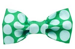 Bow Tie - Big Green Dots