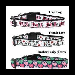 Valentine Collection Nylon Ribbon Dog Collars