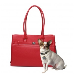 Valentine Pebble Grain Monaco Tote in Red 2nd Quality