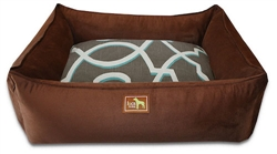 Chocolate Lounge Bed w/Jade Cover