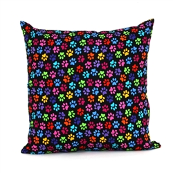 Rainbow Paws Throw Pillow