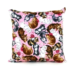 Playful Kittens Throw Pillow