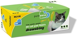 Van Ness Pureness Drawstring Cat Pan Liners, Large, 20 count