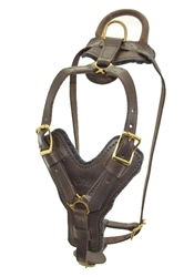 Viper Typhoon Leather Working Dog Harness - Brass Hardware