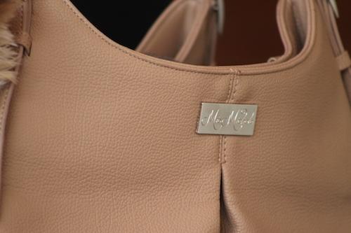 """Madison"" Mica Michele Mocha Faux Pebble Leather Carry Bag"