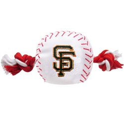 San Francisco Giants Baseball Toy - Nylon w/rope