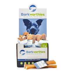 "Barkworthies American - 06"" Double Cut (Mini Case) Odor Free Bully Stick"