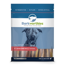 "Barkworthies - 06"" (5-Pack SURP) Odor Free Bully Stick"
