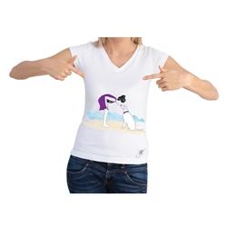 Dog On A Beach Short Sleeve Shirt by Dog Fashion Living