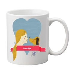Family Two-Sided Mug, pack of 4, by Dog Fashion Living