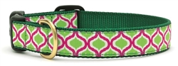 Green Kismet Dog Leashes and Collars by Up Country